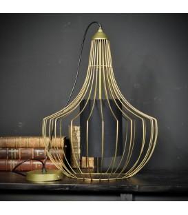 Lustre cage dorée forme 1 (ronde)