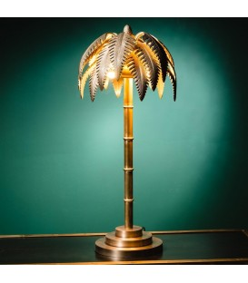Palm tree solid brass lamp