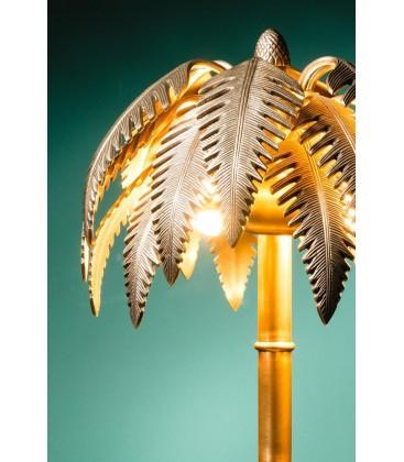Lampe palmier en laiton