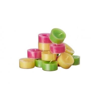Bougie chauffe-plat colorée