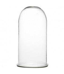 Cloche en verre avec support en verre
