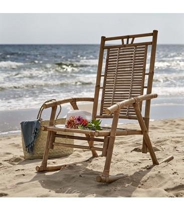 Rocking chair en rotin AIME