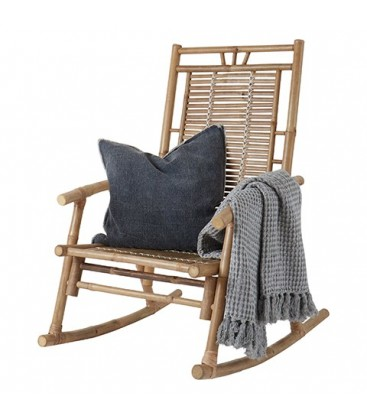 Rocking chair en rotin AIME