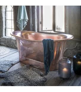 Baignoire en cuivre doré