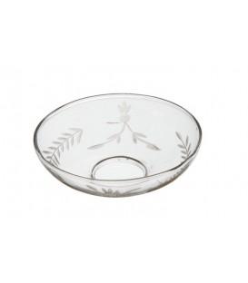 Bobèche en verre avec motifs (lot de 10 pièces)
