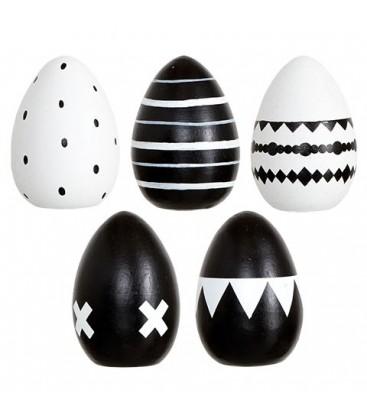 Oeufs de Pâques noir et blanc