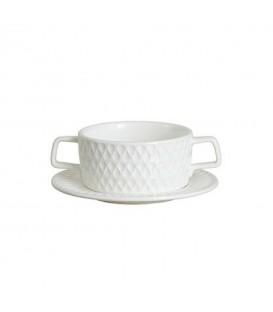 Bol à soupe en porcelaine avec sa secoupe