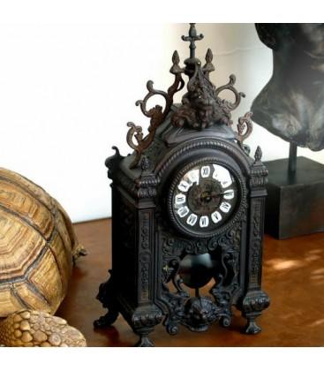 Horloge à balancier en laiton noir