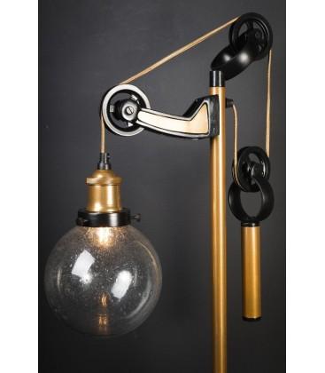 Lampe de bureau à contrepoids laiton