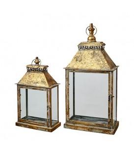 Lanterne metal dore