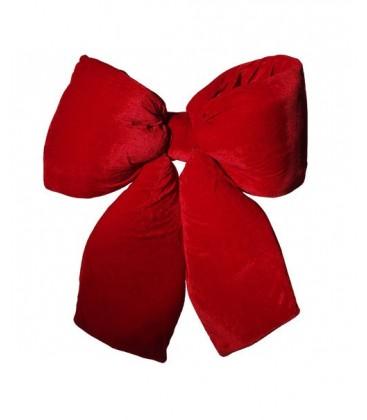 Grand nœud rouge en velours