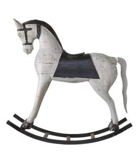 Grand cheval en bois à bascule
