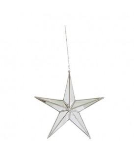 Grande étoile en verre à suspendre