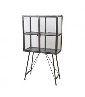 Petit cabinet en métal et verre WILLIAM
