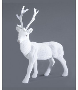 Cerf blanc déco