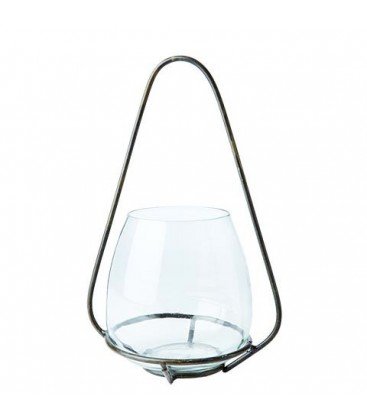 Lanterne en verre et metal
