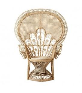 Emmanuelle armchair peacock pattern