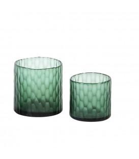 Vase avec bordure croco