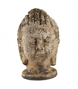Tête de bouddha en grès