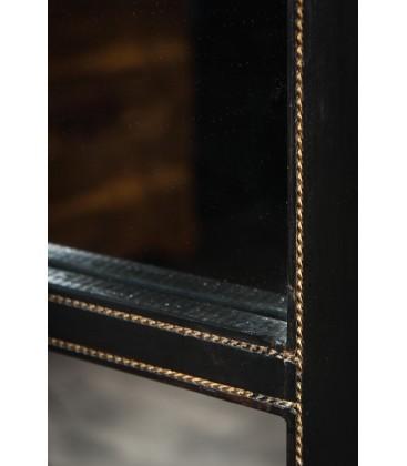 Miroir géant cadrillage laiton