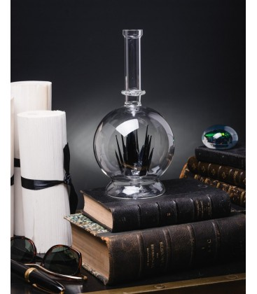 Flacon en verre avec cristaux