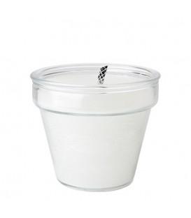 Bougie extérieure dans pot en verre