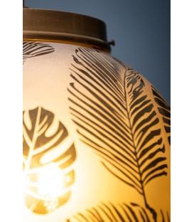 Lustre boule avec motifs feuilles