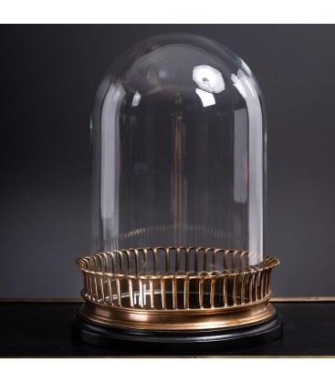 Globe VIDE sur base avec galerie de laiton à colerette