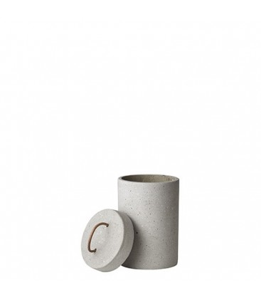 Pot en polystone avec couvercle