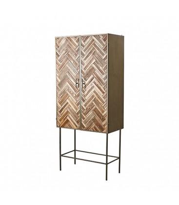 Cabinet en métal et bois