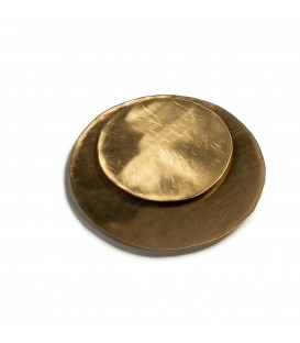 Brass hammered round plate