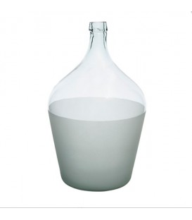 Grand vase fumé bicolore 52cm