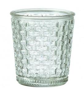Vase en verre bi-color vendu par lot de 2