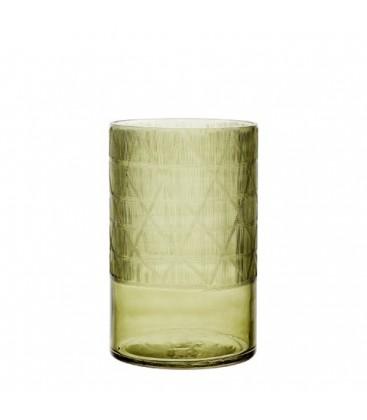 vase en verre couleur olive vendu par lot de 4