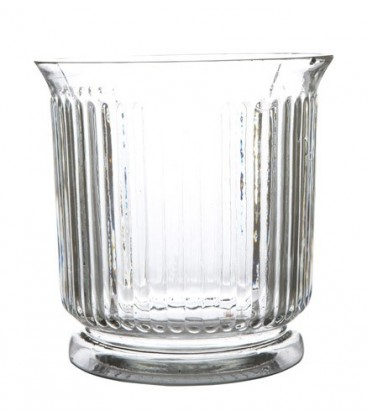 Vase en verre clair vendu lot de 8