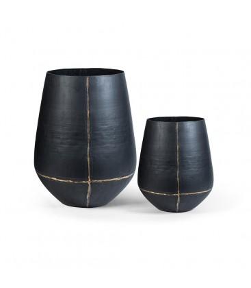 Vase en métal noir ORUS