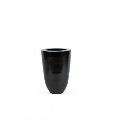 Vase en metal noir