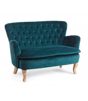 Sofa 2 places en velours