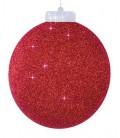 Boule scintillante rouge XL