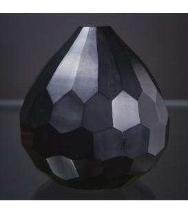 Vase à facette noir