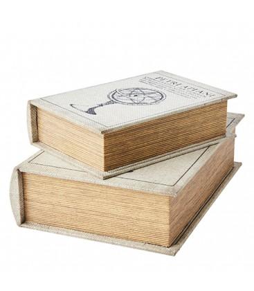 Lot de 2 boites livres anciens