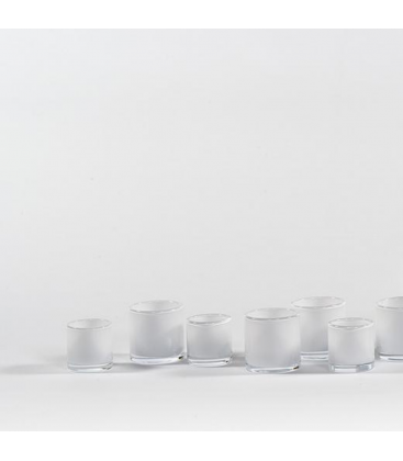 Photophores en verre fumé Confetti