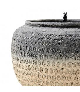 Bougie exterieur dans pot