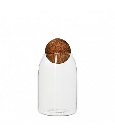 Carafe en verre bouchon boule