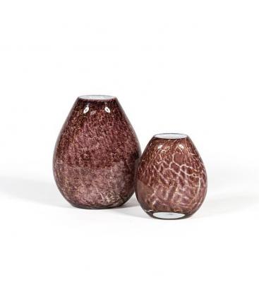 Vase plat en verre coloré