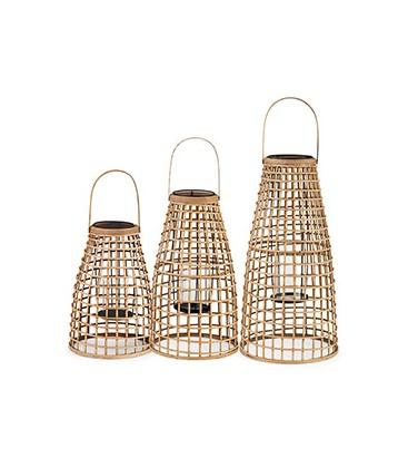 Trio de lanternes bambou