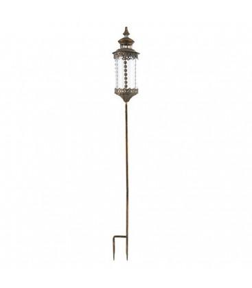 Lanterne sur pied en metal