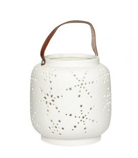 Lanterne ceramique blanc