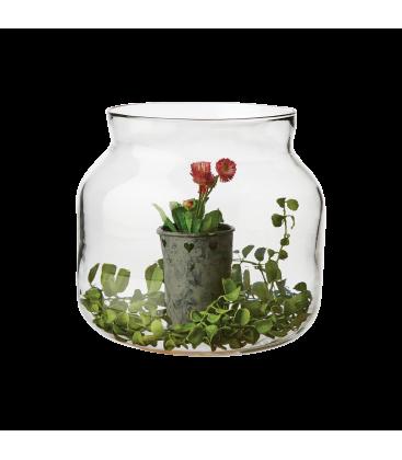 Vase verre transparent