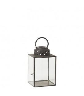 Outdoor black metal lantern